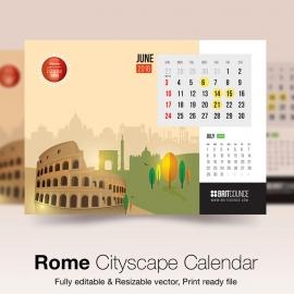 Rome Cityscape Calendar