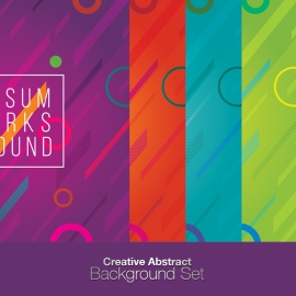 Creative Abstract Background Set