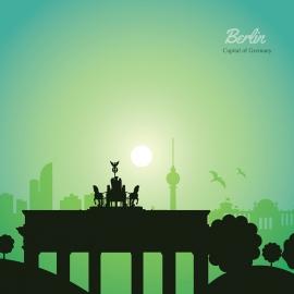 Berlin Skyline Travel Vector