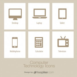 Computer Technology Icon Set