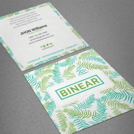 Corporate Floral Square Business Card