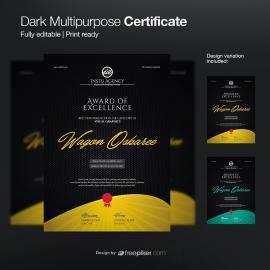 Dark Multipurpose Diploma Certificate