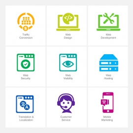 SEO Icons v5 Vector Icons