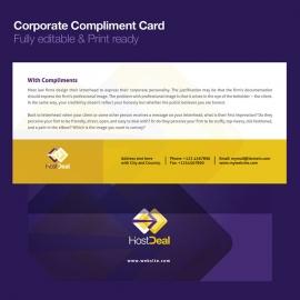 Corporate Compliment Card Design
