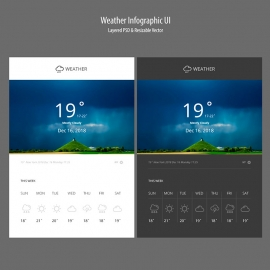 Weather & Temperature Infographic UI & UX
