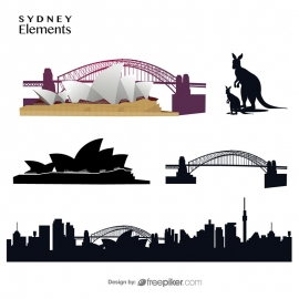 Sydney Elements Skyline Opera House Bridge & Kangaroo