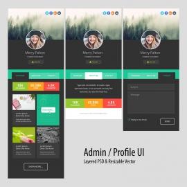 Responsive Dark Admin Profile Dashboard UI & UX