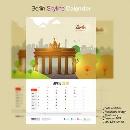 Berlin Skyline Travel Calendar