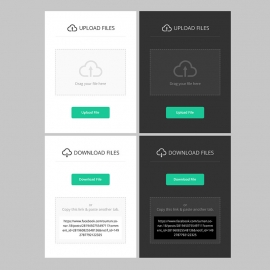 Responsive Upload & Download UI & UX