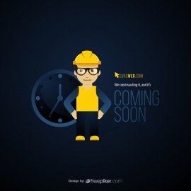 Coming Soon Clock & Engineer Concept Under Construction Page