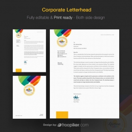 Clean & Colorful Creavite Corporate Letterhead design