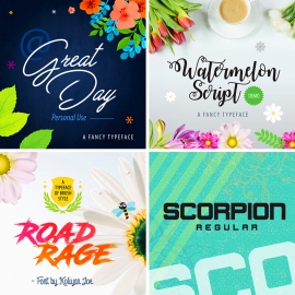 Font Preview Creative Mockup Design Element Pack