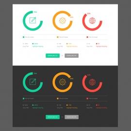 Pie Charts Infographic UI
