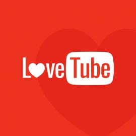 Love Tube Red Heart Logo