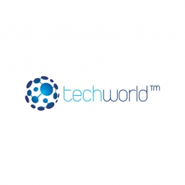 Technology World Digital & Internet Links Globe Logo