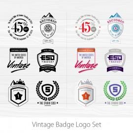 Vector Vintage Logos | Vintage Badges & Typographic Logos