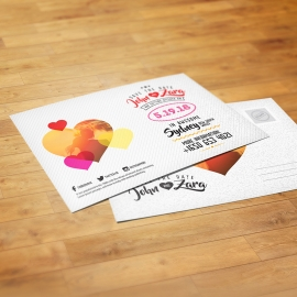 Save the Date Wedding Colorful Invitation PostCard