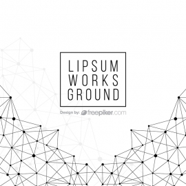 GeoMetric Polygon Abstract Black White Background