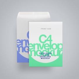 C4 Envelope Mockup Layered PSD