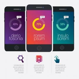 Smartphone Vector Infographic