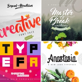 Creative Fonts Preview Design Mockup Collection