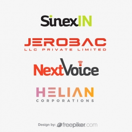Clean & Minimal Corporate Logo Set