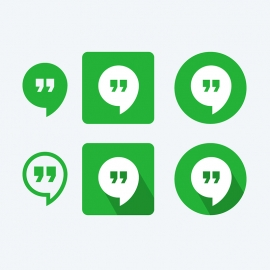 Google Hangout Vector Icons
