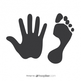 Footprint & Handprint Vector