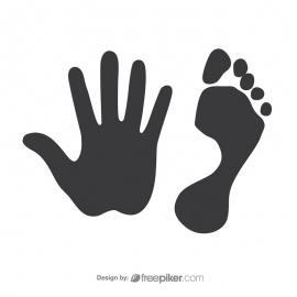 Footprint & Handprint Vector