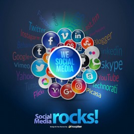 Social Media Conceptual Theme Rocks