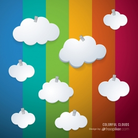 Clouds with Colorful Background