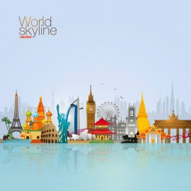 World Skyline | Travel & Tourism Vector