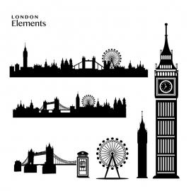 London Elements Skyline Big Ben & Tower Bridge