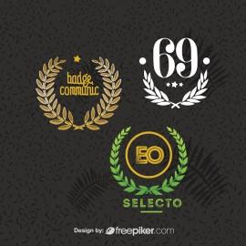 Retro Logo & Badge Leafe