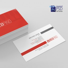 Corporate Clean Red Business Card
