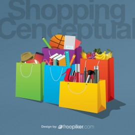 Shopping Conceptual Vector Graphics