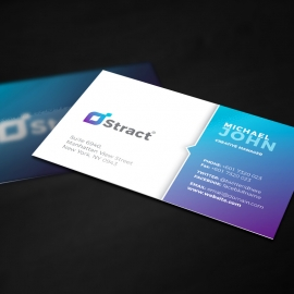 Colorful Clean Business Card