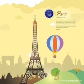 Paris City Cityscape Vector