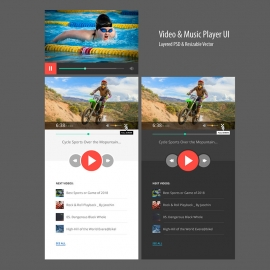Responsive Video & Music Player UI & UX