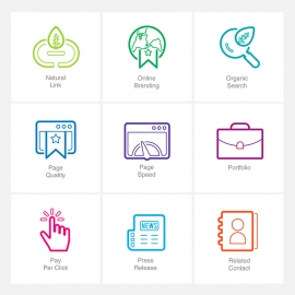 SEO Line Icons  v3 Vector Icons