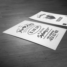 Save the Date White Invitation PostCard