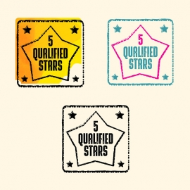 5 Stars Qualified Rubber Stamp & Retro Seal