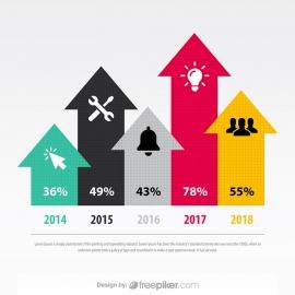 Arrow Chart Smart Art Vector Infographic