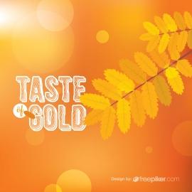 Golden Leaves Decorative Design Element