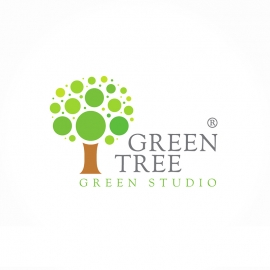 Green Tree Logo with Circles