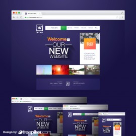 Vector Website & Browser Responsive