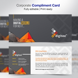 Corporate Compliments Card