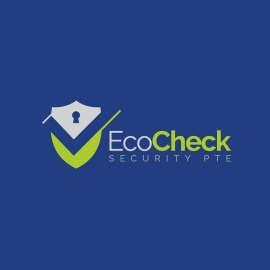 Eco Check Security Shield with Locker Logo