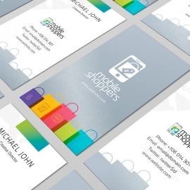 Online Mobile Shop Ecommerce Business Card