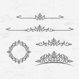 Floral Vintage Design Ornaments